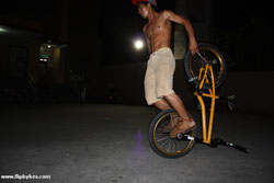 Renz back rolls at night-time...