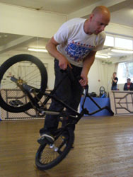 Lee at the World BMX Battle